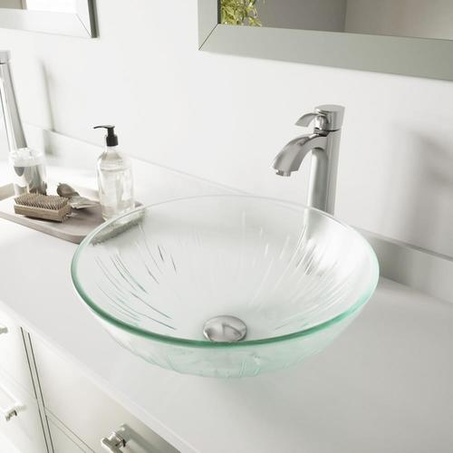 VIGO Vessel Sinks White Frost Glass Vessel Round Bathroom Sink .