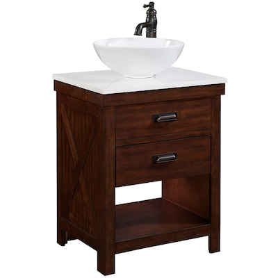 Style Selections Cromlee Bark Vessel Single Sink Poplar Bathroom .