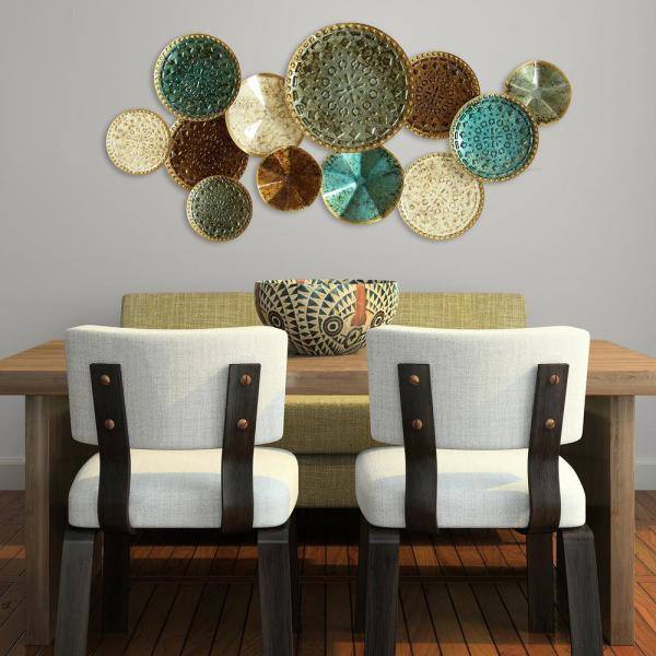 Stratton Home Decor Multi Metal Plate Wall Decor S01657 - The Home .