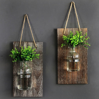 Decorative Mason Jar Wooden Wall Decor - Rustic Wall Sconces with .