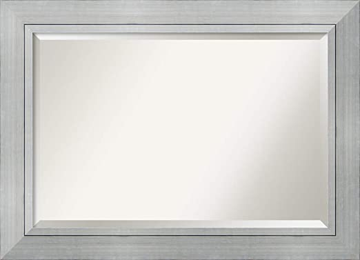 Amazon.com: Framed Mirrors for Wall | Romano Silver Mirror for .