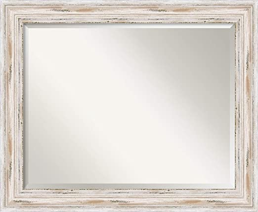 Amazon.com: Amanti Art Framed Mirrors for Wall | Alexandria White .