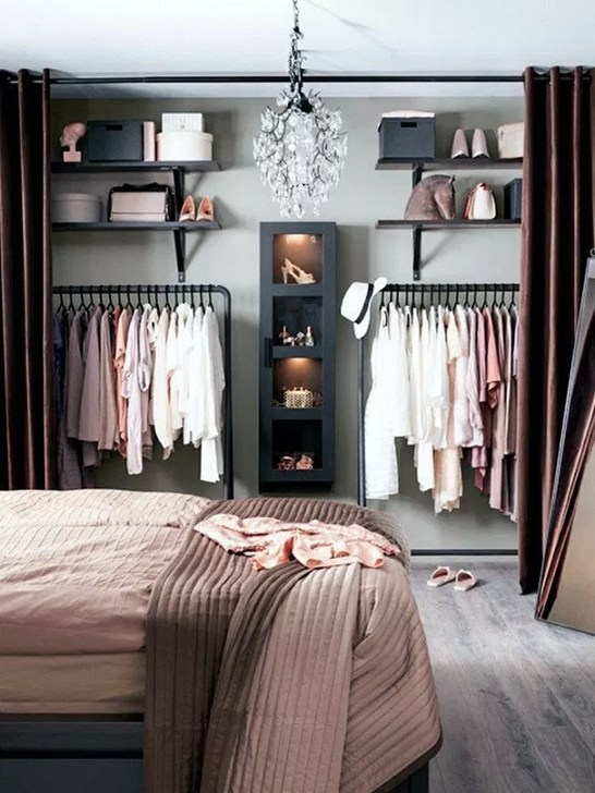 51 Elegant Wardrobe Design Ideas For Your Small Bedroom - HOMYSTY
