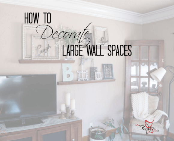 How to Decorate a Large Wall! | Family room walls, Room wall decor .