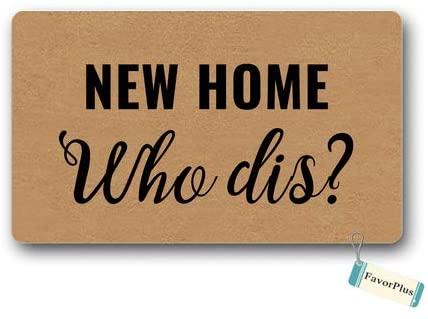 Amazon.com : Doormat New Home Who Dis Welcome Mat New House Gift .