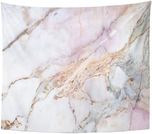 Amazon.com: Emvency Tapestry Pink White Marble Pattern with High .