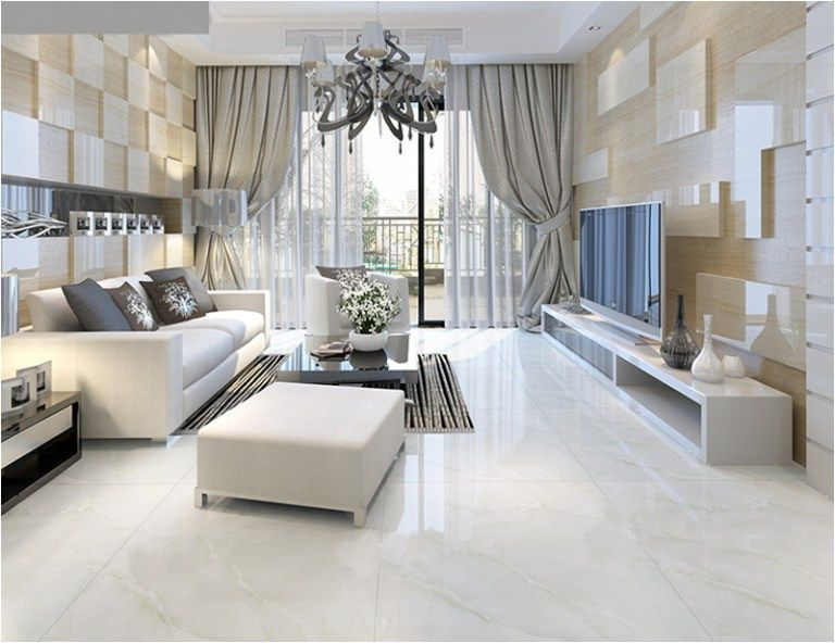 white marble floor living room 42 | Living room floori