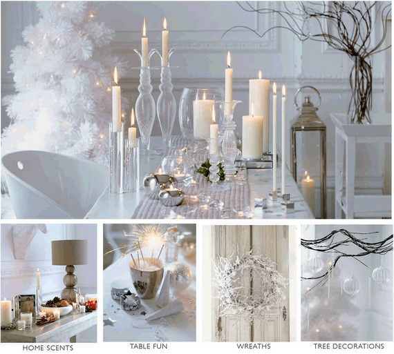 White Christmas Decorating Ideas | family holiday.net/guide to .