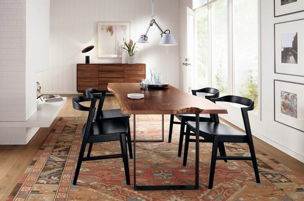 dining table wood modern design - Kari