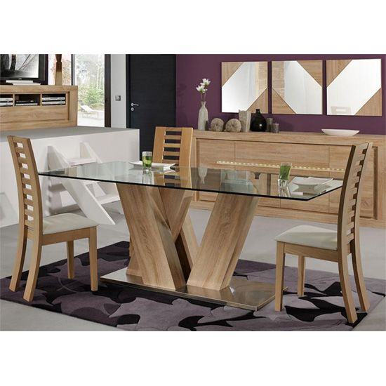 Season Glass Top 6 Seater Dining Table With Season Chairs (With .