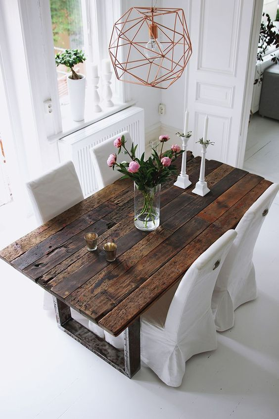 75 Modern Rustic Ideas and Designs | Dining room design, Rustic tab