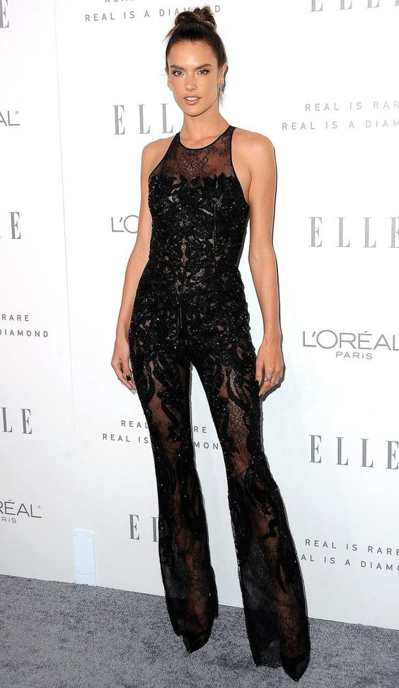 black lace jumpsuit sexy