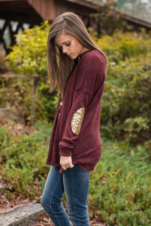 Elbow Patch Shirt Gold Sequins