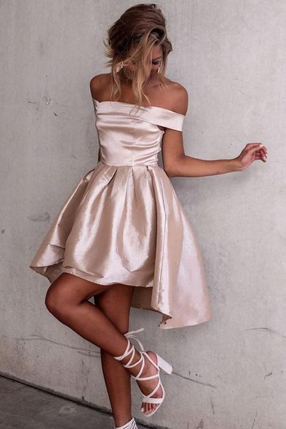 High low ball gown delicate pink