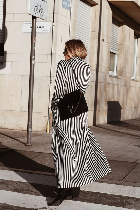 black and white striped tailcoat