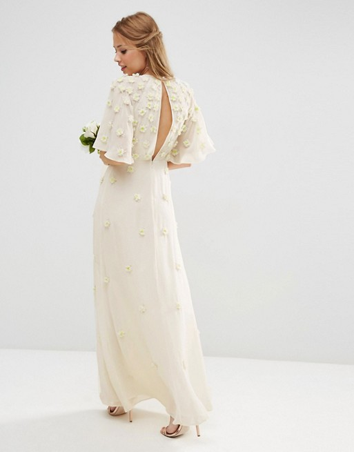 3D floral maxi dress for the wedding