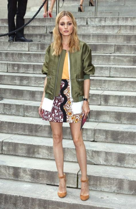 olive green skirt with jacket pattern