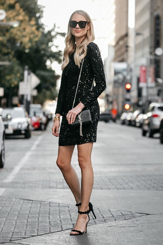 black sparkling dress every day