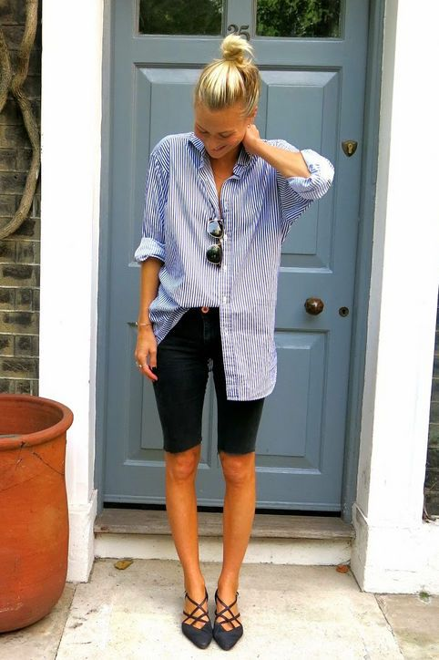Bermuda shorts button down