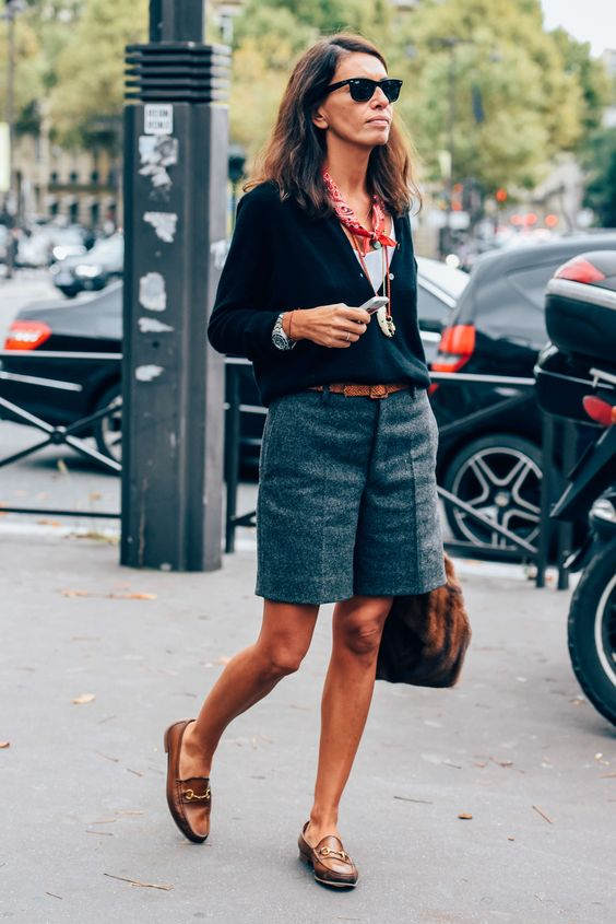 bermuda shorts parisian chic