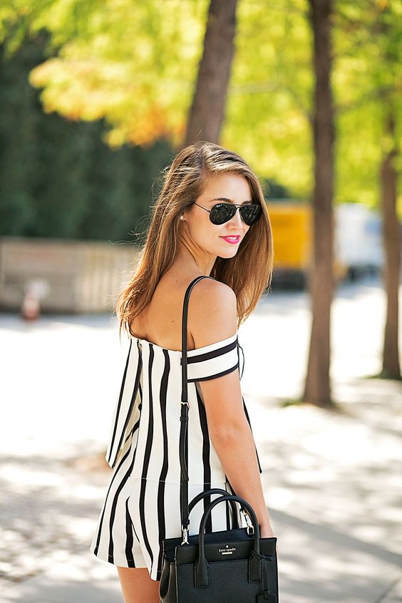 Black and white jumpsuit rompers