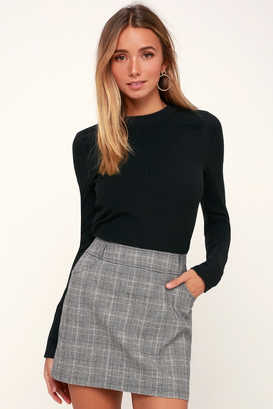 Everything Nice Black and White Glen Plaid Mini Skirt in 2020 .