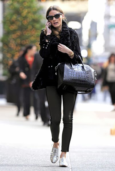 black cable knit chunky sweater made of leather