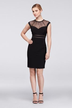 black dress transparent collar