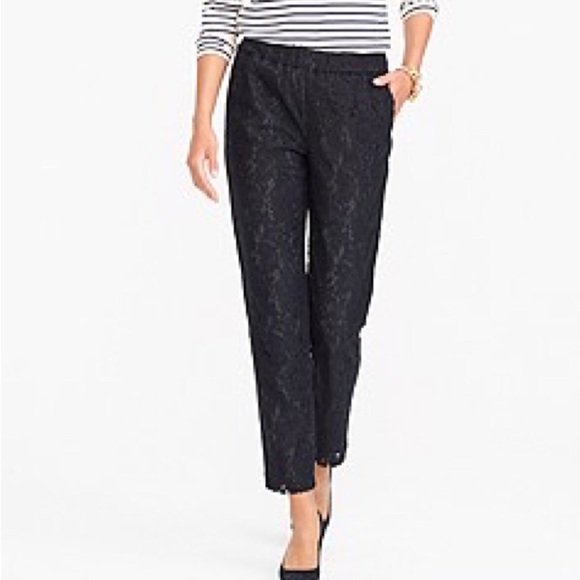 J. Crew Factory Pants & Jumpsuits | Jcrew Black Lace Pants | Poshma
