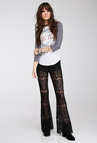 black lace trousers sporty
