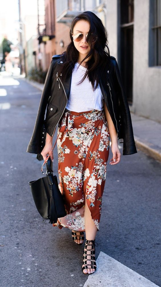 black wrap skirt with lace-up heel