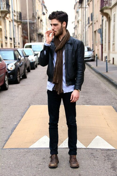 How to wear brown shoes with black pants for men (4) | Mens winter .