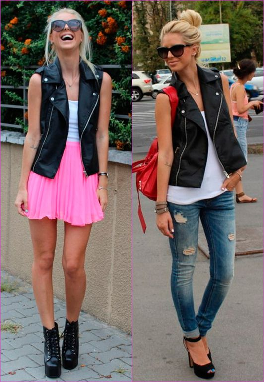 These black leather vests are awesome, length not too short, and .