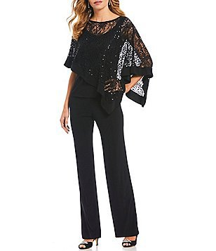 black long-sleeved lace elegant blouse with chinos