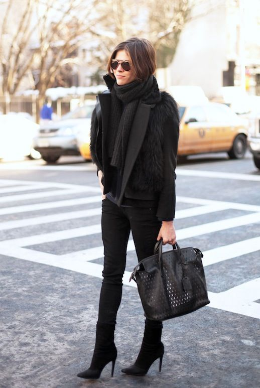 black over the ankle boots