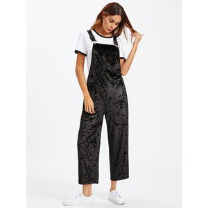black overalls white t-shirt sneakers