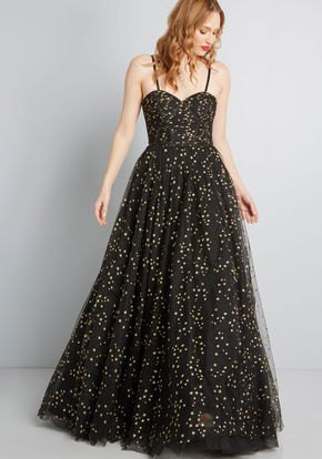 black polka dot fit and flare floor length Hawaiian summer dress