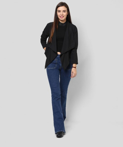 black jeans boots with a shrug