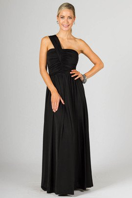 Black Tube Maxi Fit and Flare Dress Single Strap