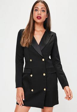 black tuxedo jacket dress military buttons