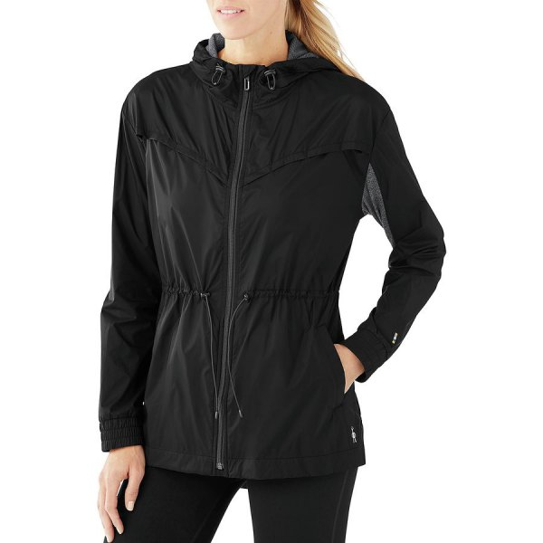 black sports jacket with zipper and running shorts
