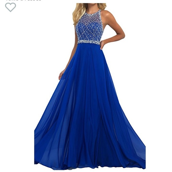 royal blue sparkly dress > Factory Sto