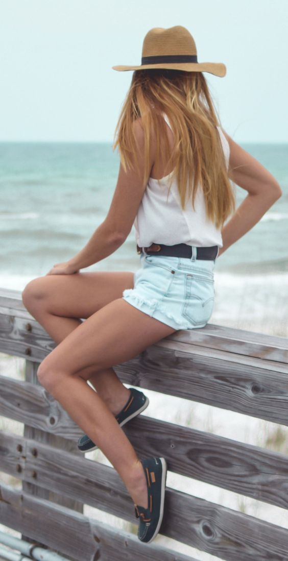 Boat shoes jean shorts