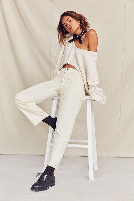 Carpenter trousers white