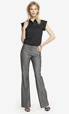 black top outfit with cap sleeves