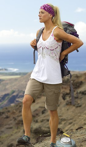 Cargo shorts white boho vest top