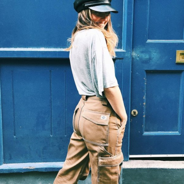 Carpenter's trousers, beige