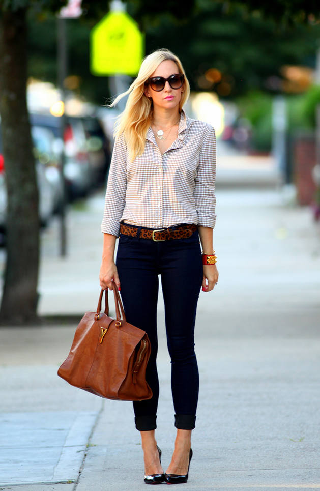 Casual shirt skinny jeans
