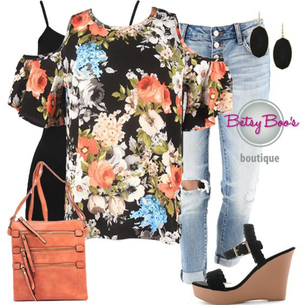 blouse, floral, cold shoulder top, fashion, style, outfit, outfit .