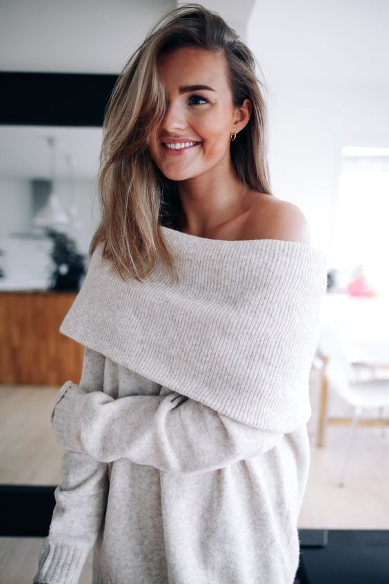 How To Style An Off The Shoulder Sweater: 25 Ideas - Styleohol